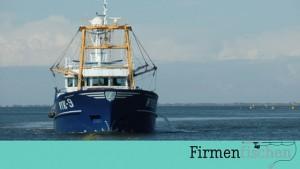 Bild von Fischkutter mit Firmenfischen Logo
