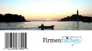 boat sunset barcode firmenfischen logo