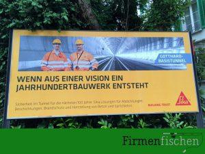 Sika AG wirbt mit Gotthart-Basistunnel