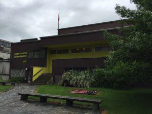 Ein Bild vom Hauptgebäude er Landessender Beromünster