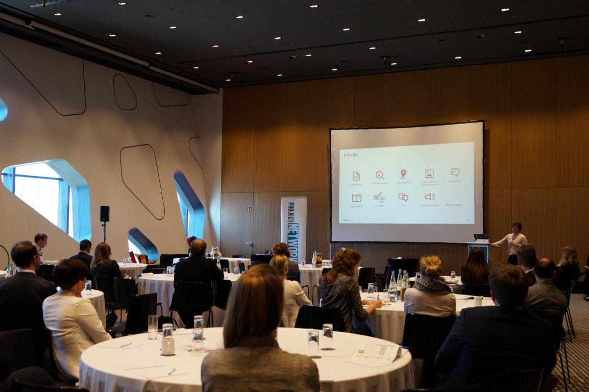 Bild vom Vortrag von Frau Simone Spaniol am Matchpoint Corporate Publishing & Content Communication