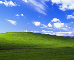 Bliss heisst das Standard Hintergrundbild von Microsoft Windows XP