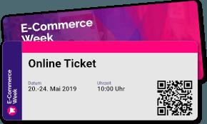 Symbolbild für ein Ticket für die E-Commerce Week