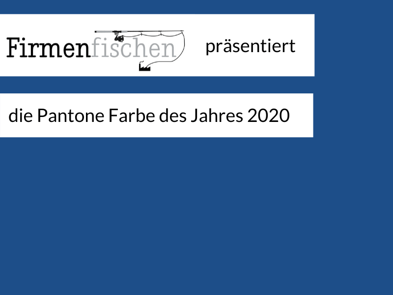 Illustration mit Classic Blue Pantone Farbe des Jahres 2020