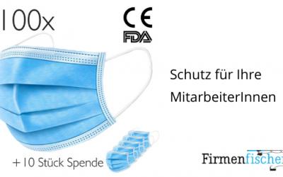 Mund-Nasenschutz-Masken für MitarbeiterInnen bestellen
