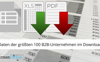 Liste der B2B-Unternehmen als PDF-Download und Excel-Tabelle